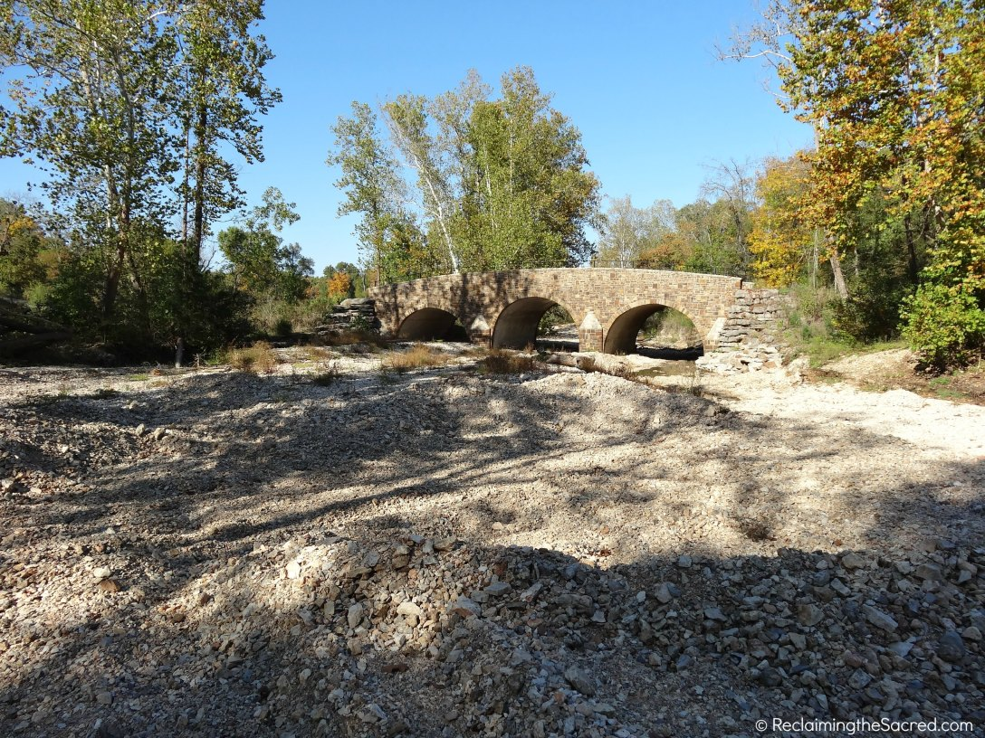 Don't worry - the road is not that bumpy. It is the creek bed, dried up from a hot summer.