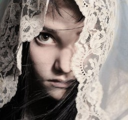 The Mantilla is a veil of mystery, and deep symbolic worth.
