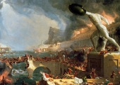 While the fall of Rome was tragic in the sufferings that were caused, should not the history books perhaps remember it more as an almost apocylptic cleansing of an immoral and decaying world?